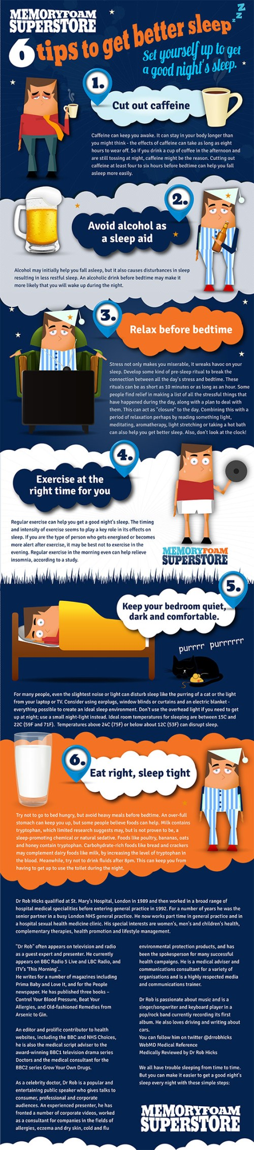 6 Top Tips For A Better Nights Sleep
