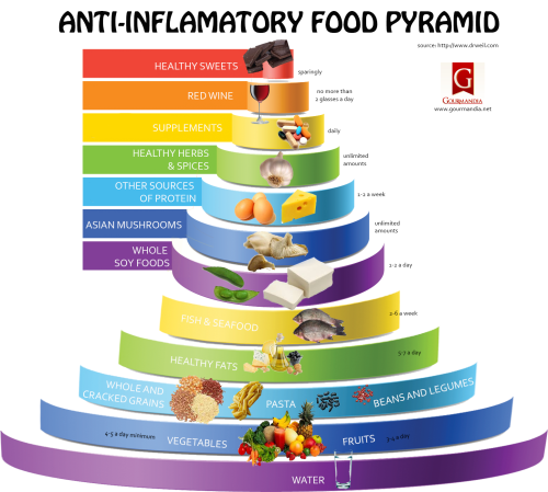 ANTI-INFLAMMATORY FOOD PYRAMID Source- http-::www.gourmandia.net