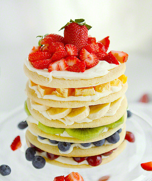 Fruit and pancakes