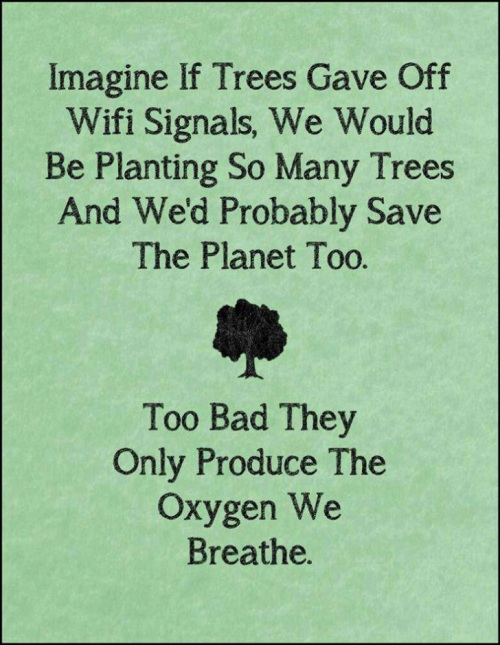 Imagine if trees gave off Wi-Fi signals