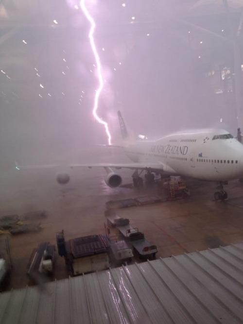 Flight delay.