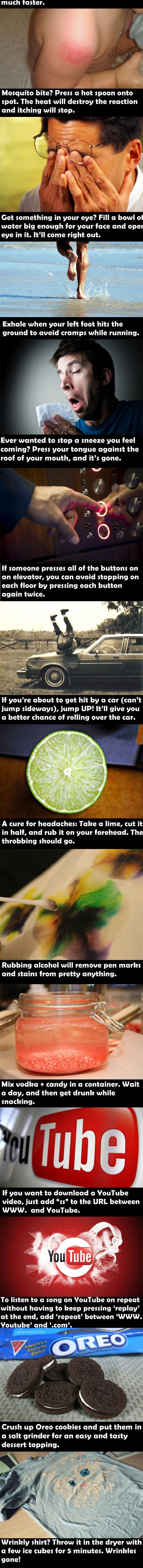 Good to know - Life hacks