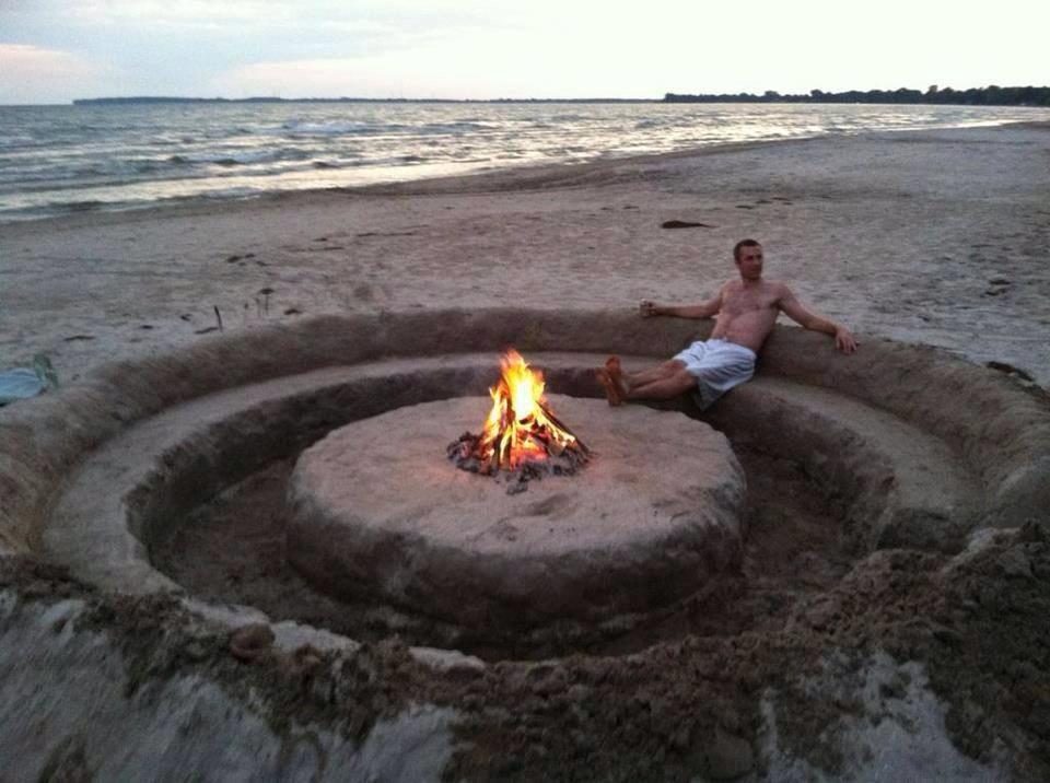 innovative beach fire