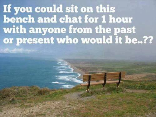 Sit on a bench and chat