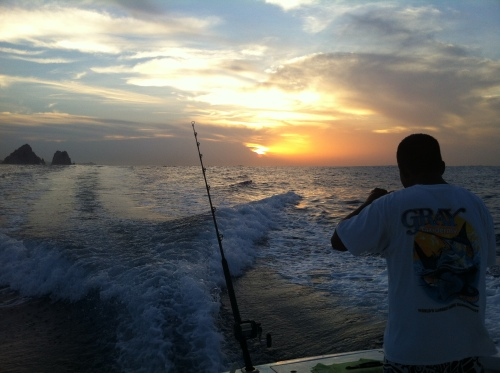 Early morning fishing at Cabo - Unfortunately we caught none