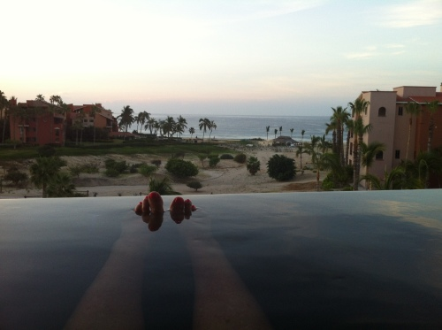 sunrise in the Spa at Cabo