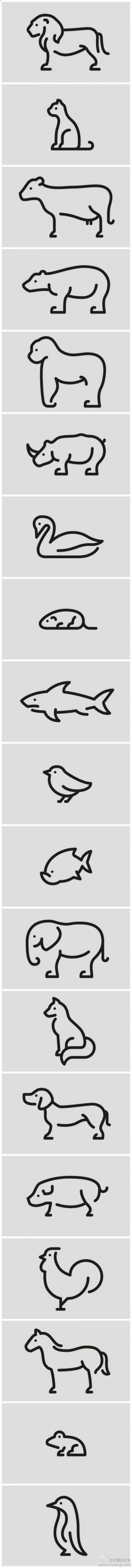 Various easy to draw animals.