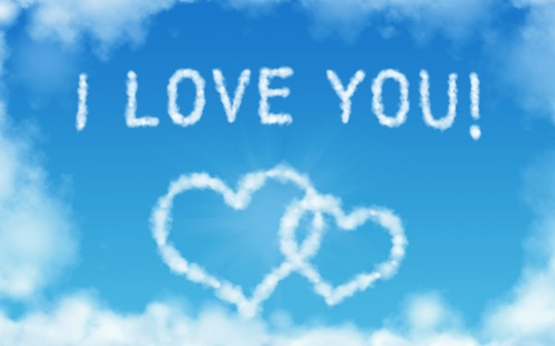 I Love You sky 1,920×1,200 pixels