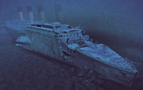 The Titanic Underwater