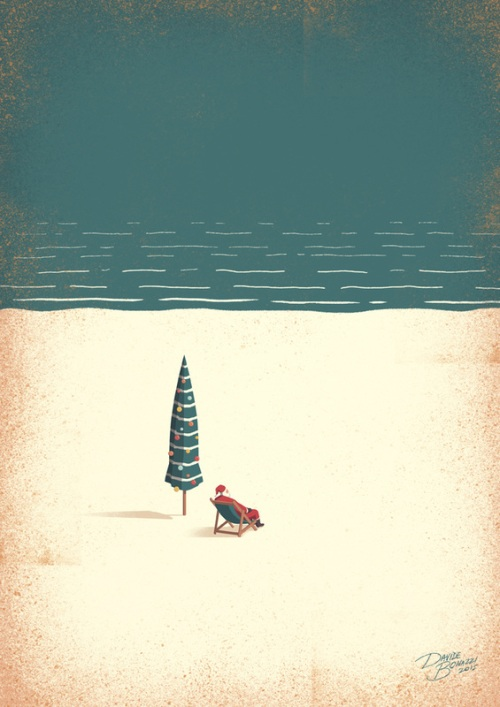 DAVIDE BONAZZI ILLUSTRATION- CHILL SANTA  December 23, 2015 Davide Bonazzi wishes you a Peaceful, Happy Holiday!.jpg
