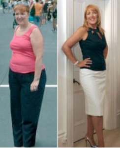 This particular woman lost 38lbs in 3 weeks