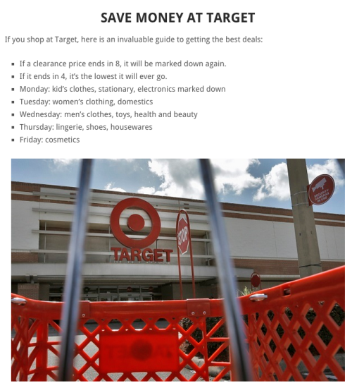 Save money at Target