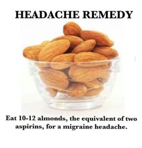 Headache Remedy - almonds