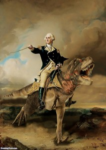george-washington-riding-a-dinosaur-126354